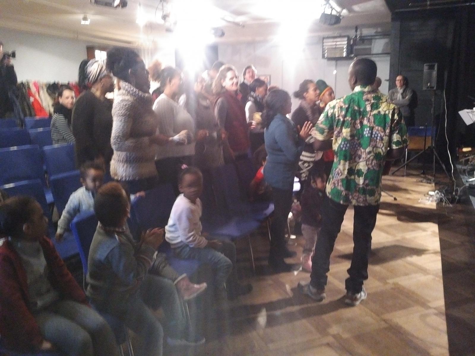 Begegung zwischen Chamber Artists CHAARTS und dem Chor Njoy2sing