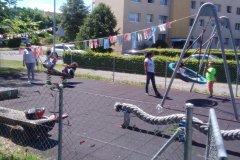Der kleine Spielplatz hinter dem Solibrugg-Haus